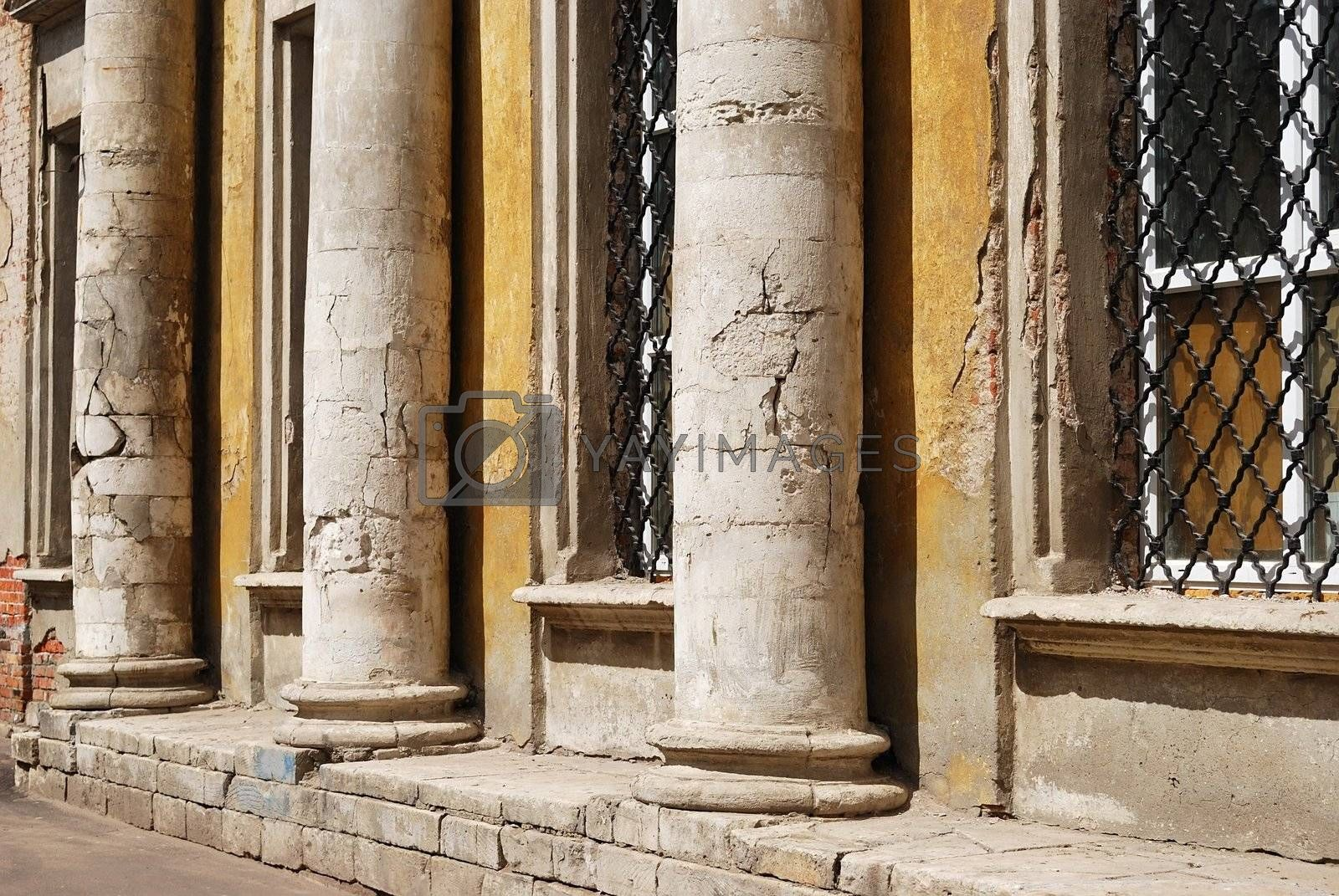 Old building with columns (detail)