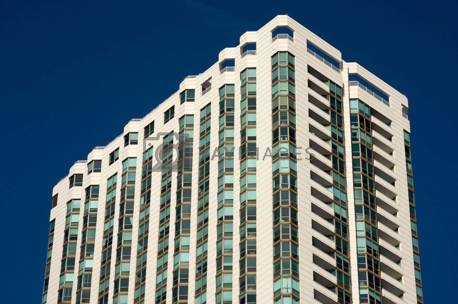 Modern High-Rise Condominiums in downtown Chicago.