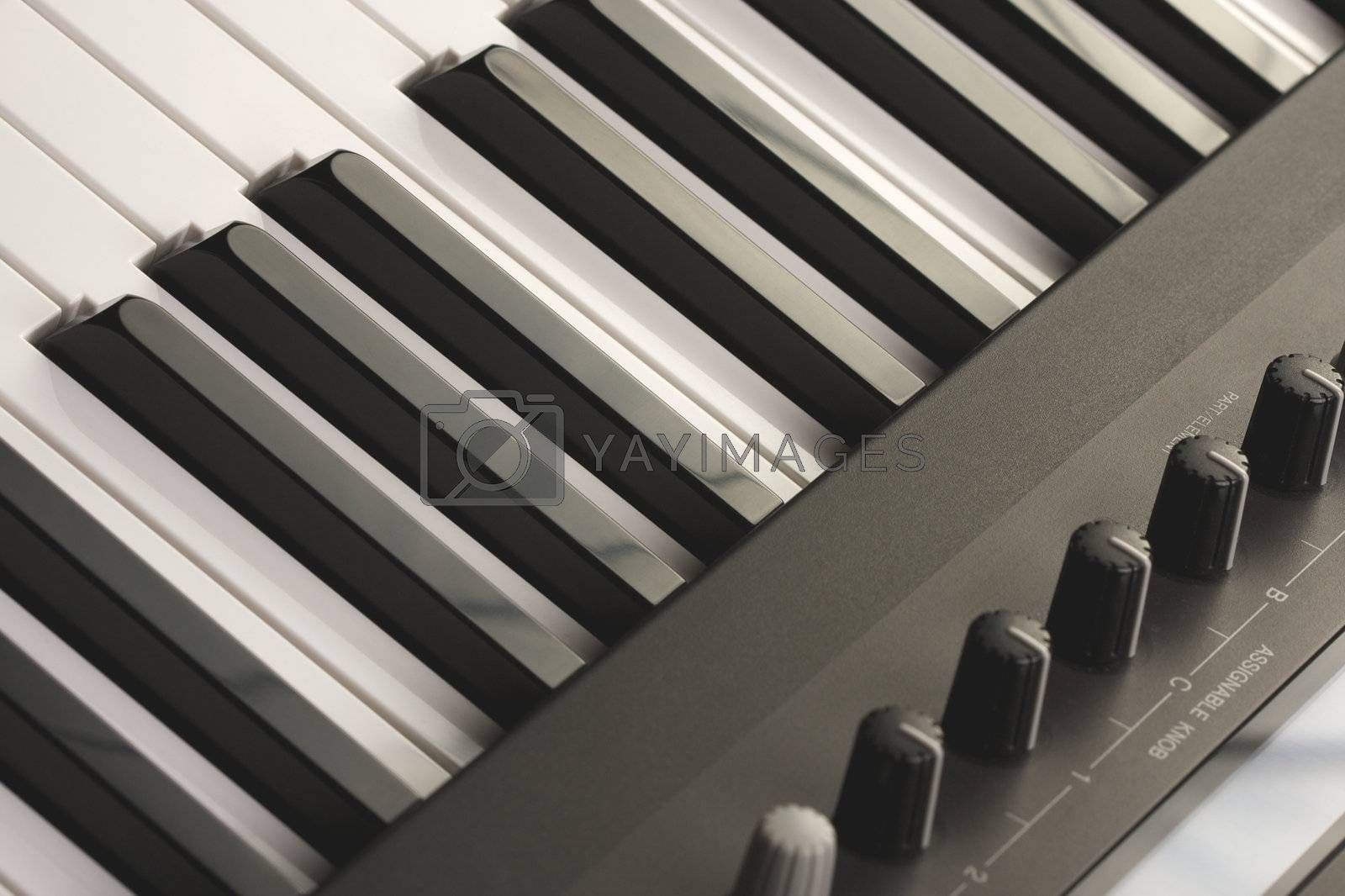 Abstraact Digital Piano Keyboard & Controls