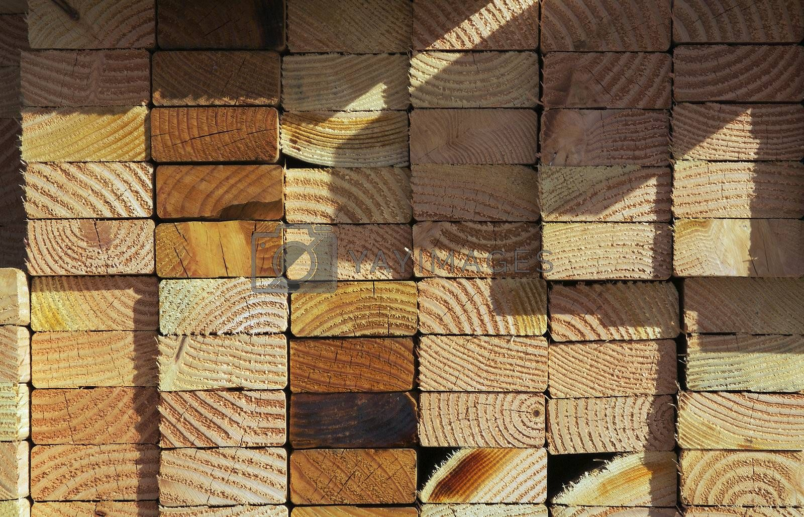 Abstract Stack of Construction Wood