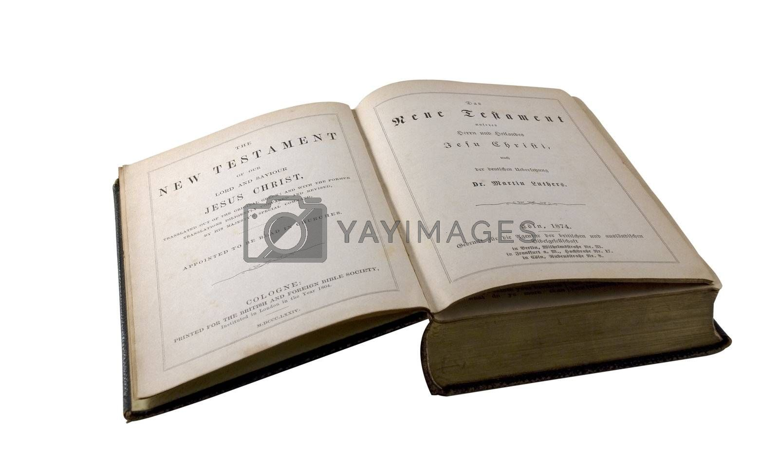 Old edition of the New Testament - English/German