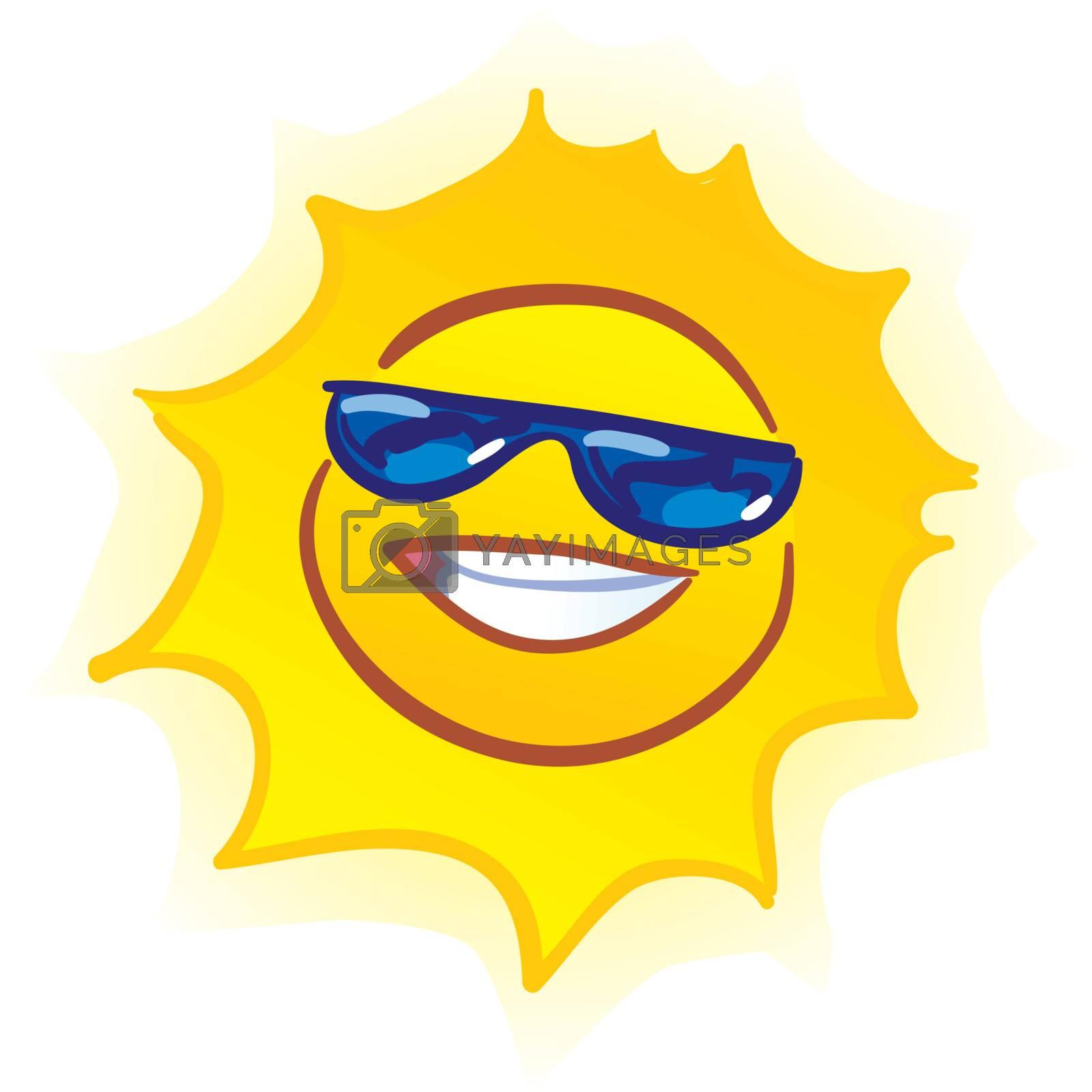 vector smiling sun by VectorZilla