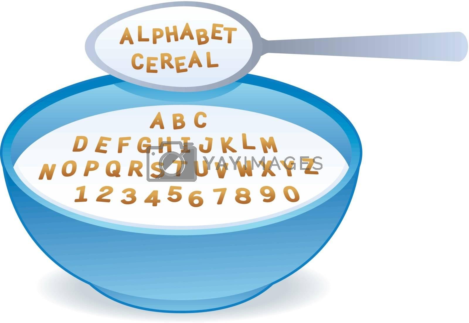 vector Alphabet Cereal by VectorZilla