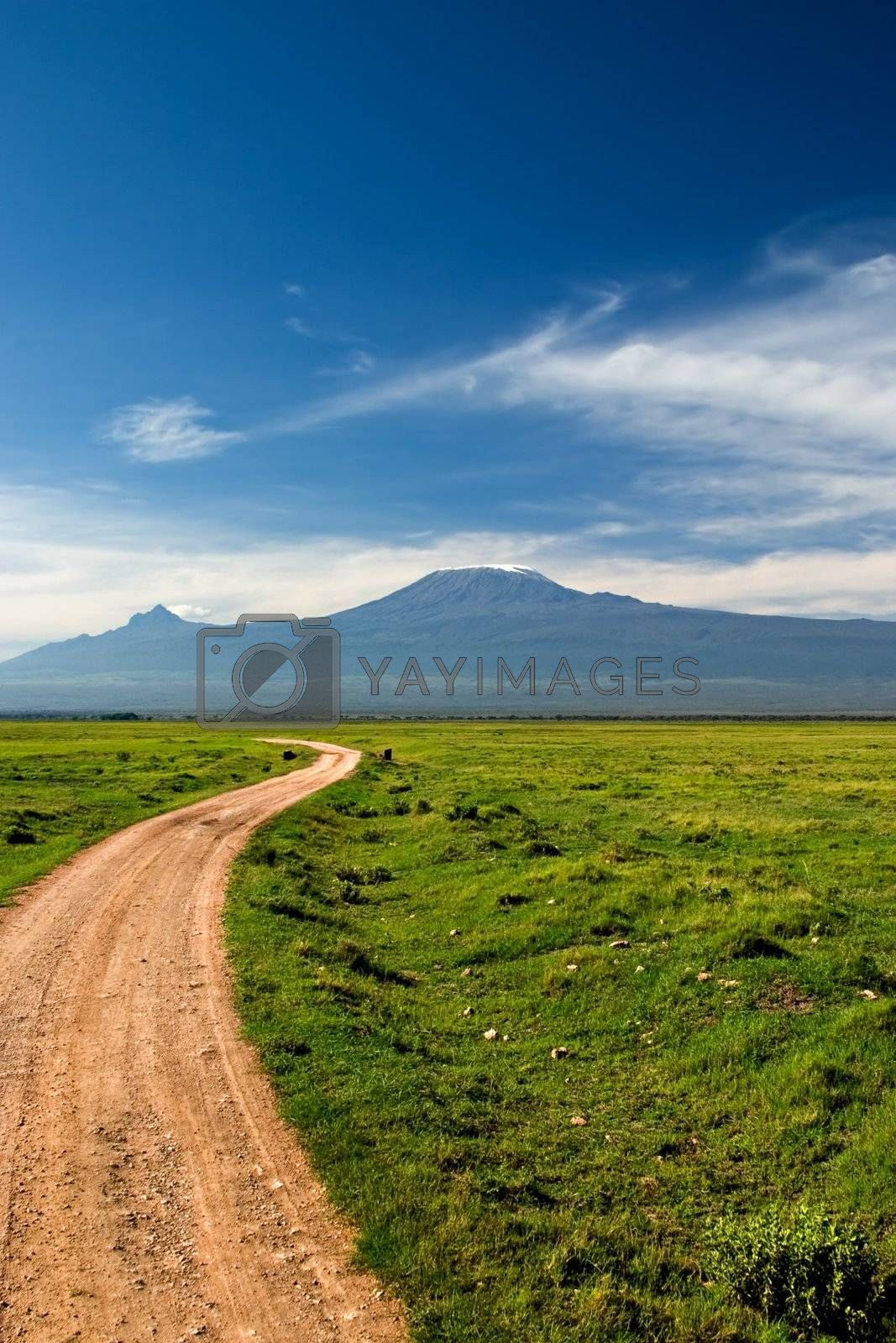 View from Mount Kilimanjaro from Amboseli National Park in Kenya