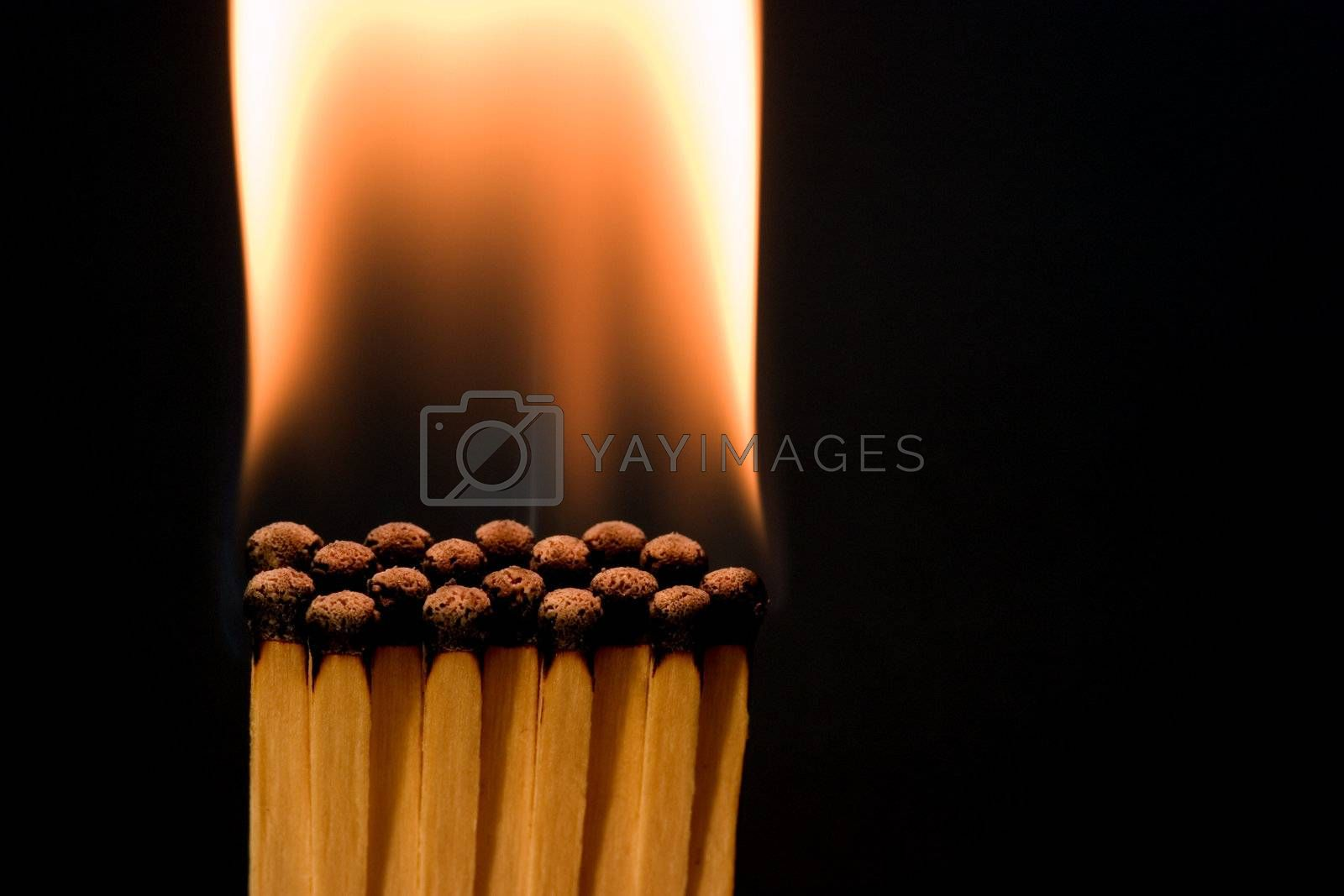 Matches burned after chain reaction