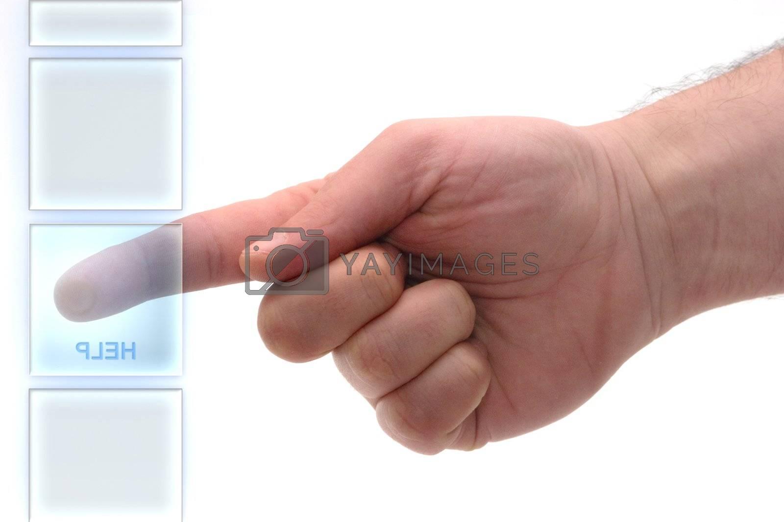 Concept : Glass keypad. Help key