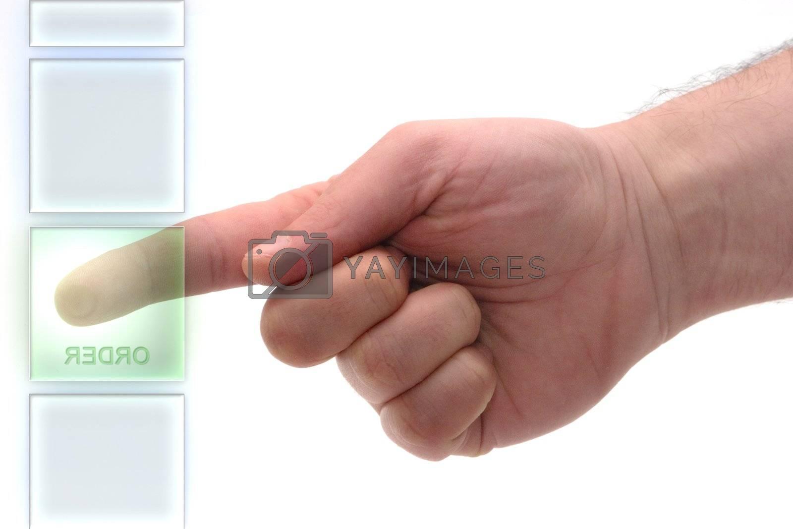 "Concept : Glass keypad. ""Order"" Key"