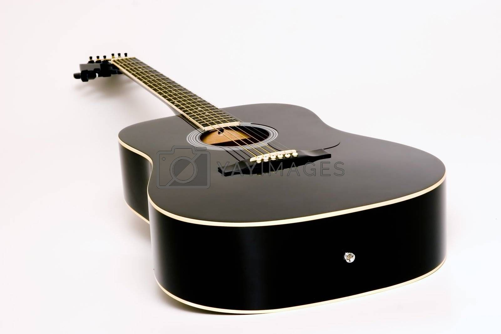 Acoustic Guitar on White Backgroud