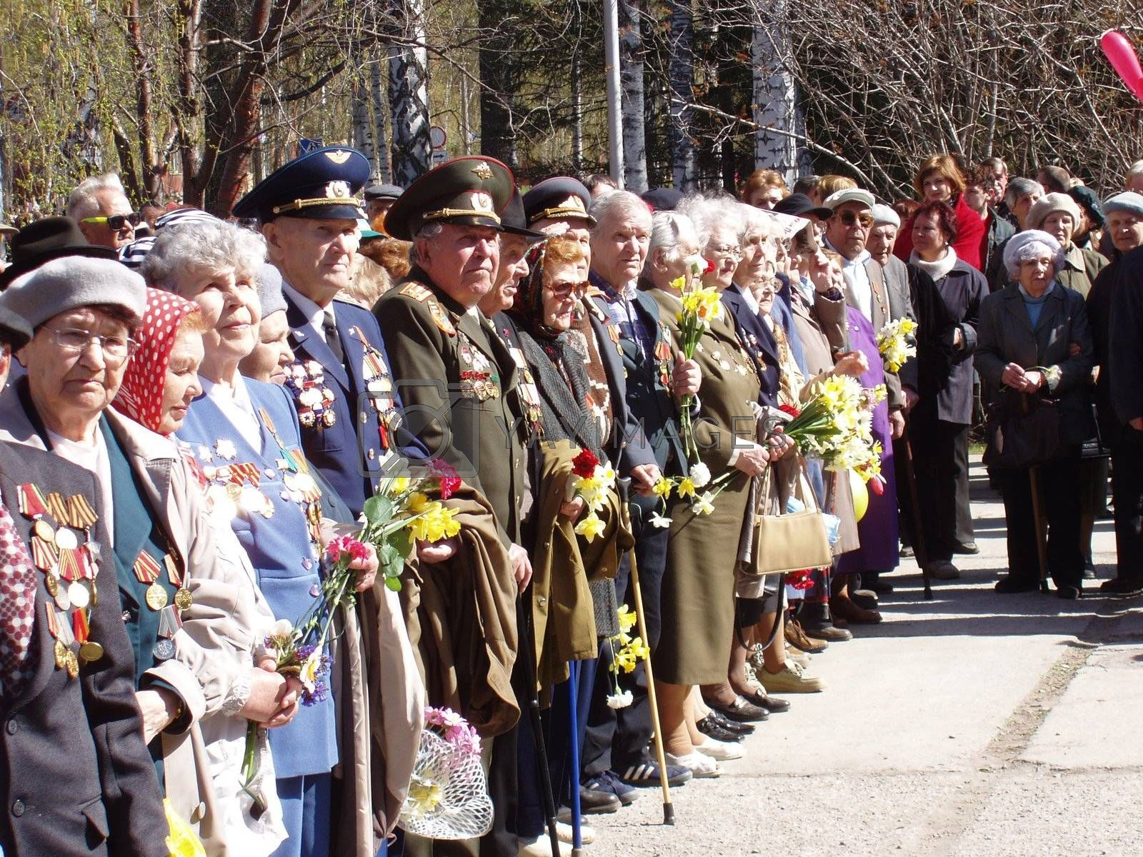 Veterans of WWII on 9/05/2007 Novosibirsk, Russia