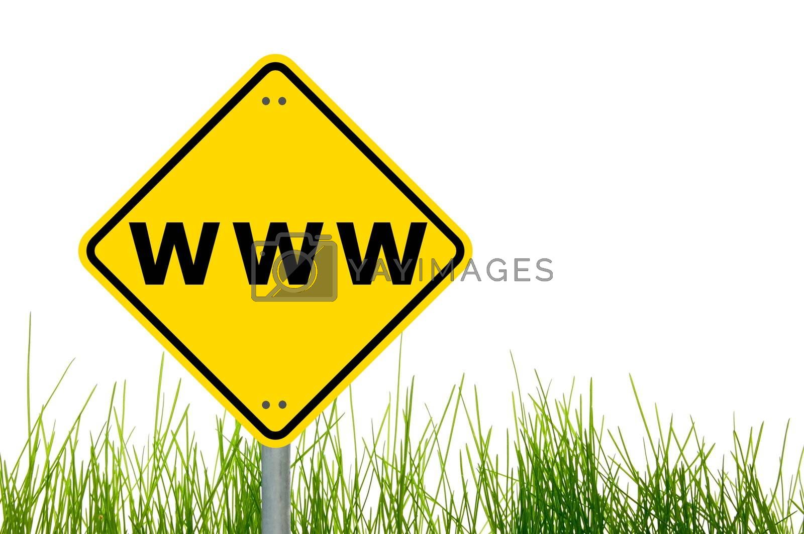 www or internet concept with copyspace for a text message