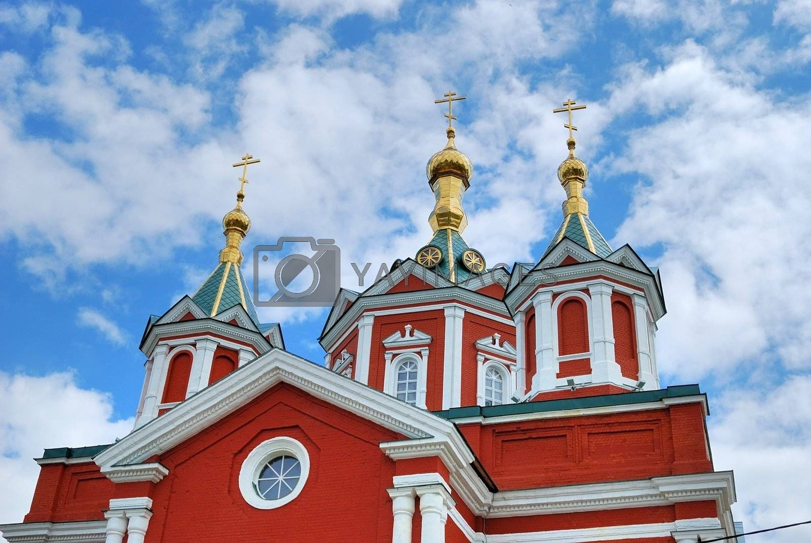 Russian orthodox church in Kolomna town near Moscow