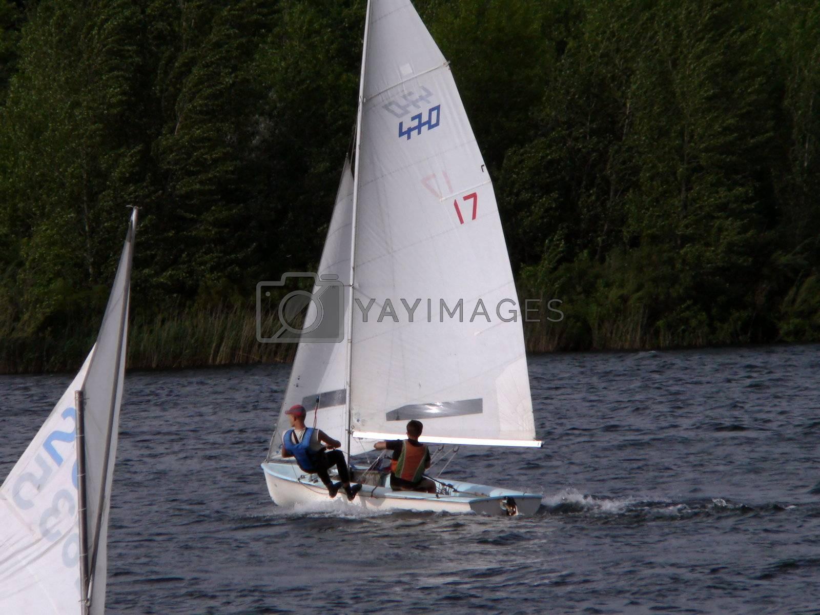 Sailing regatta on lake 2