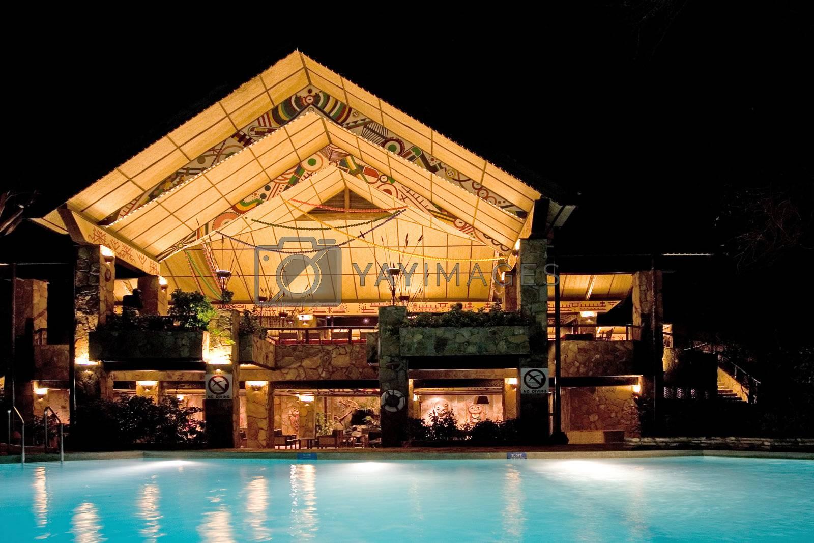 African Lodge Night Shot
