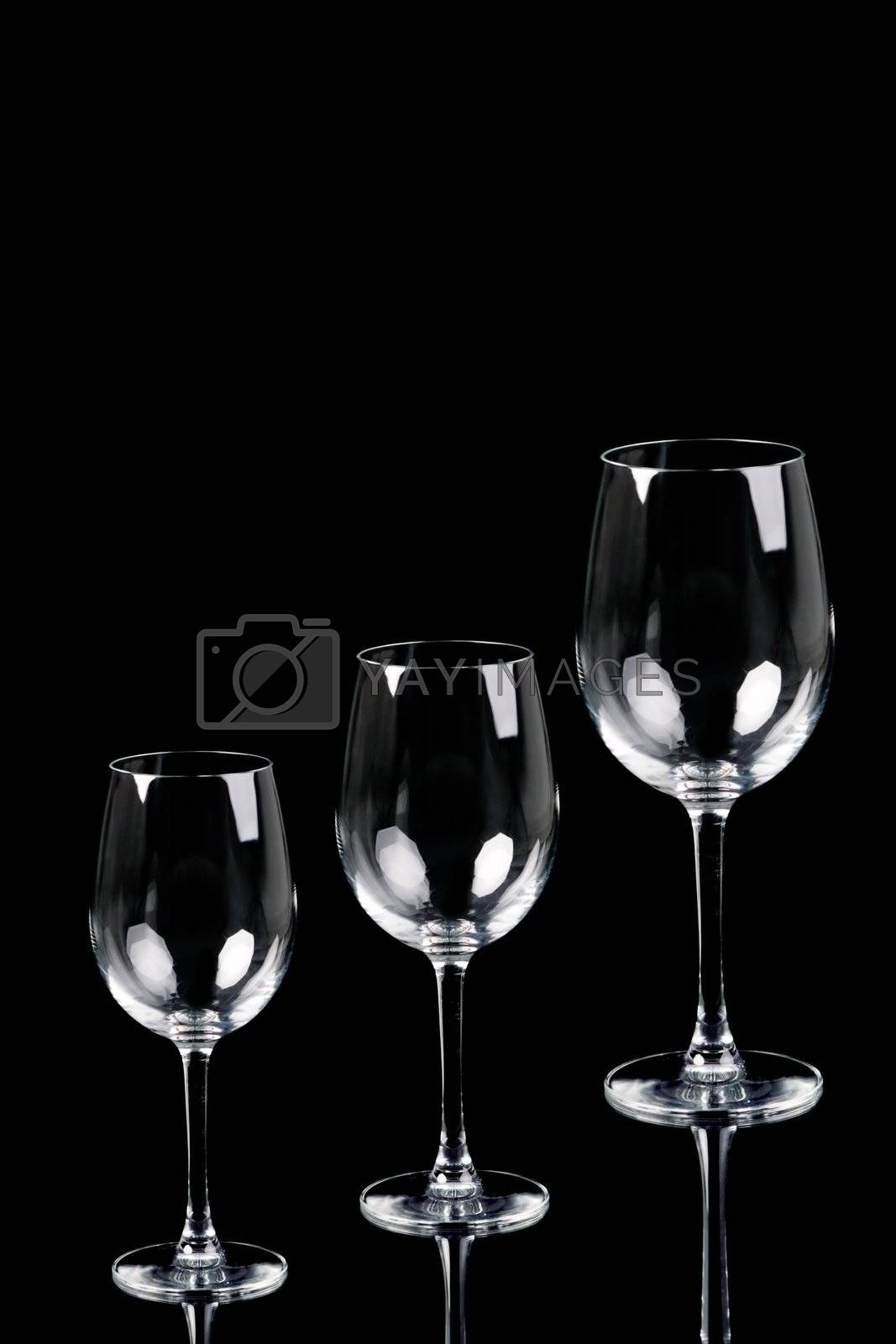 Royalty free image of Three Empty Glasses by ajn
