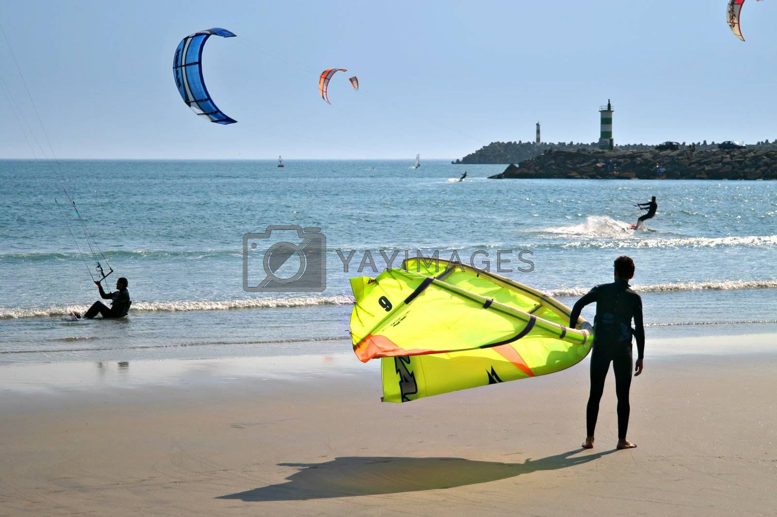 Kite Surfers at the beach