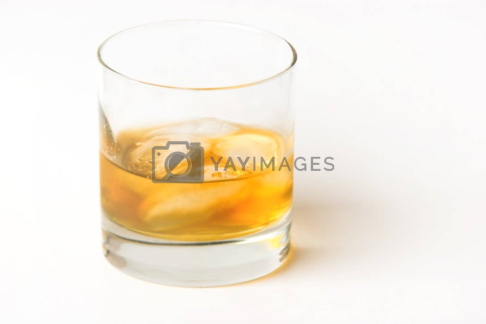 Ice Drink with White Background