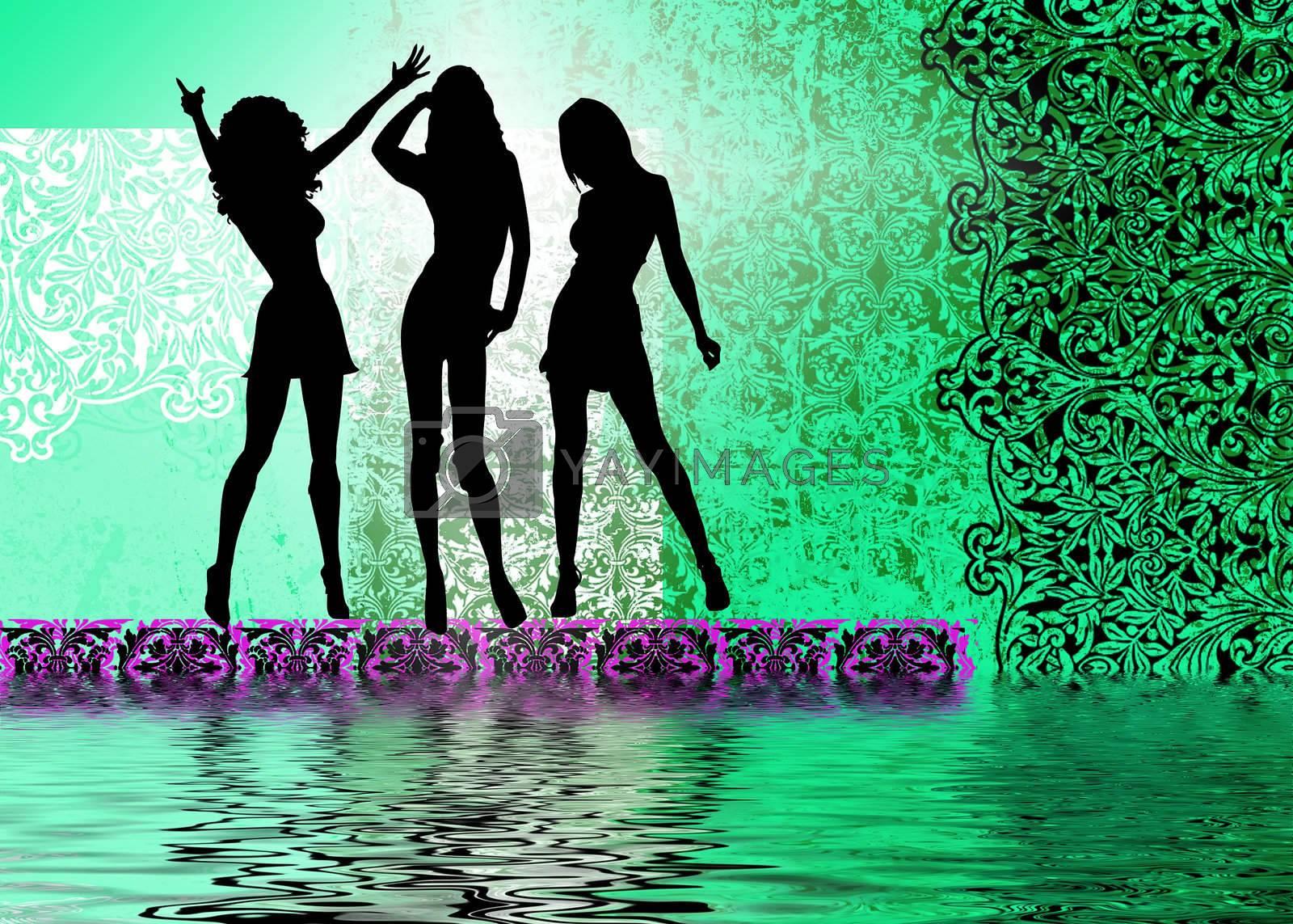 Night club girls by redfig