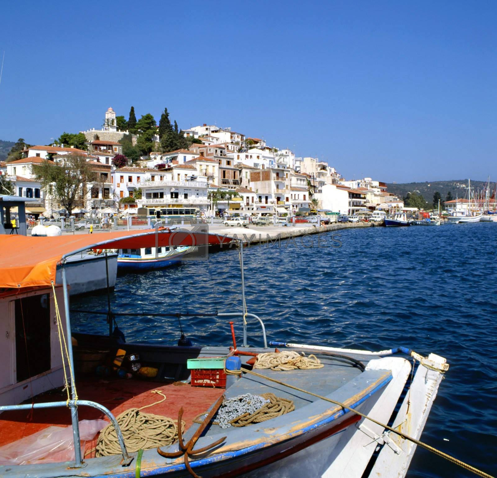 Skiathos port by runamock