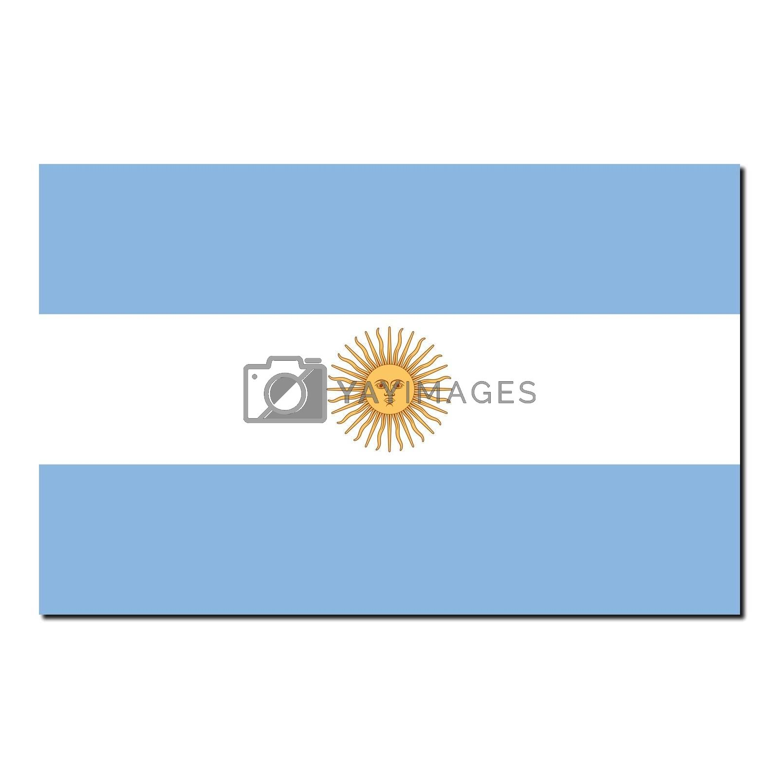The national flag of Argentina by claudiodivizia