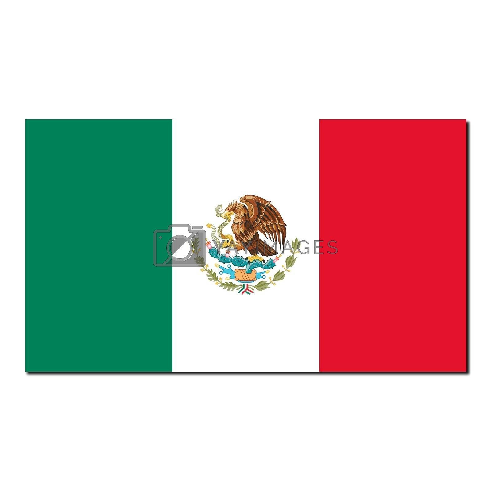 The national flag of Mexico by claudiodivizia