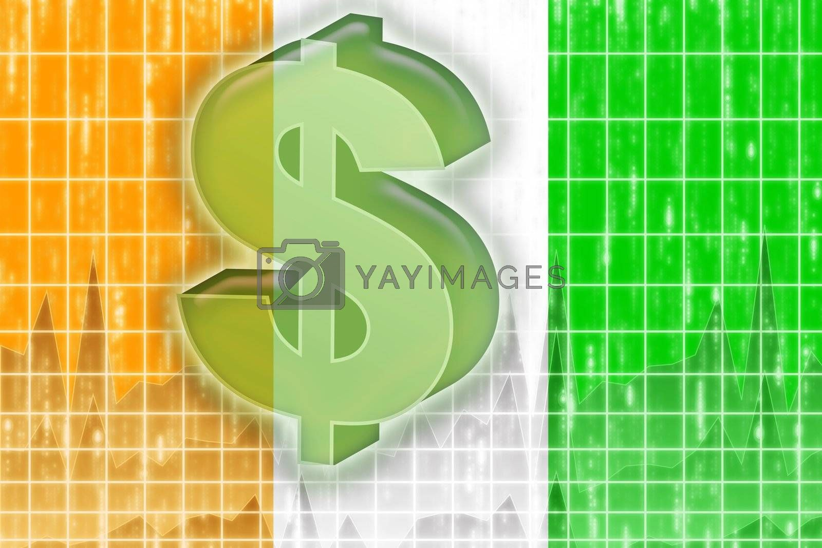 Flag of Ivory Coast finance economy by kgtoh