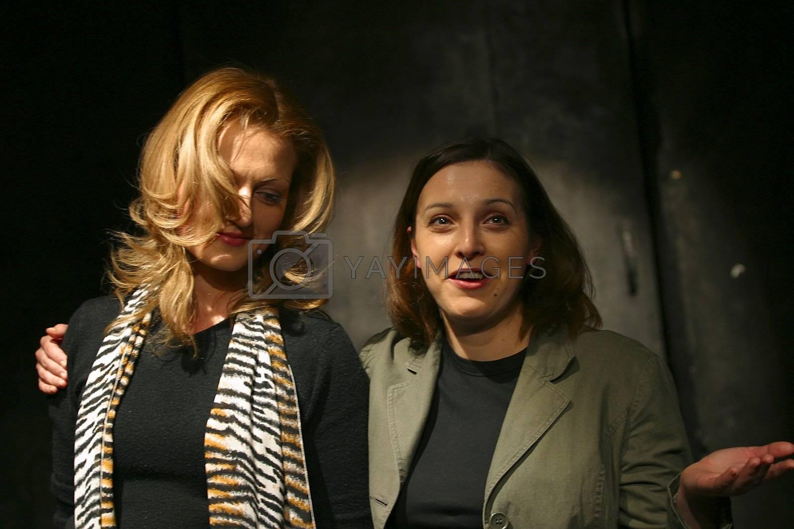 "Performance ""September.doc"" director Michael Ugarova. In a picture: Nadejda Shiryaeva and Mariana Cherenkova"