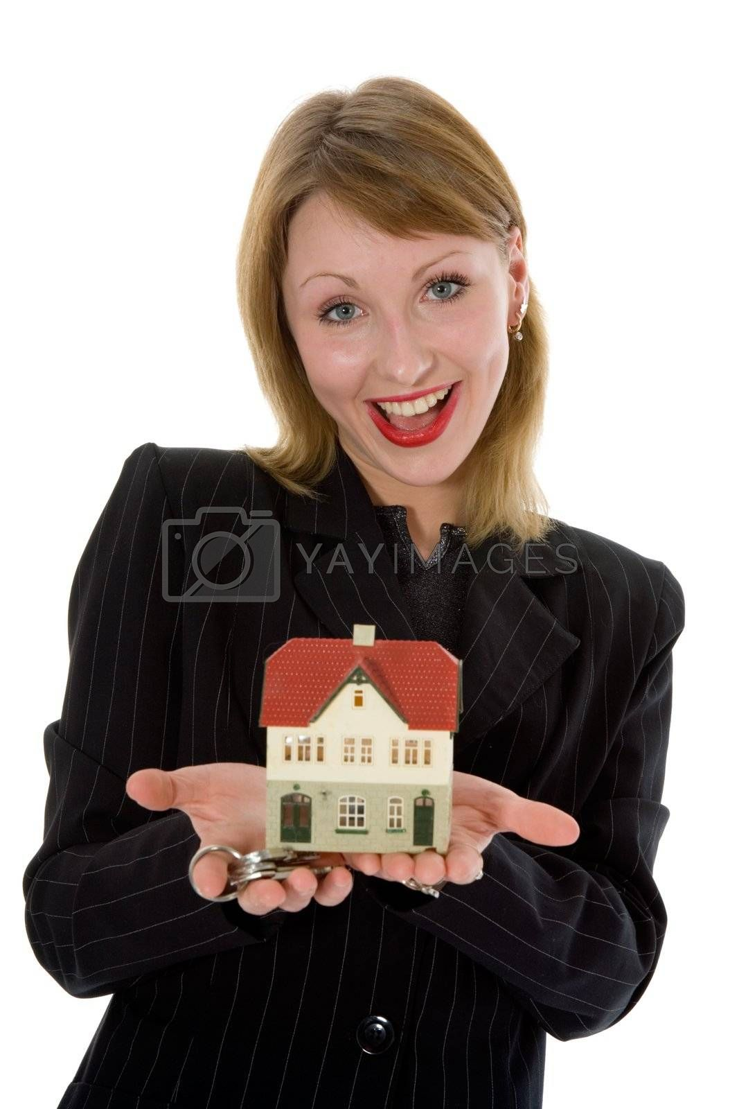 Business woman advertises real estate  by izi1947