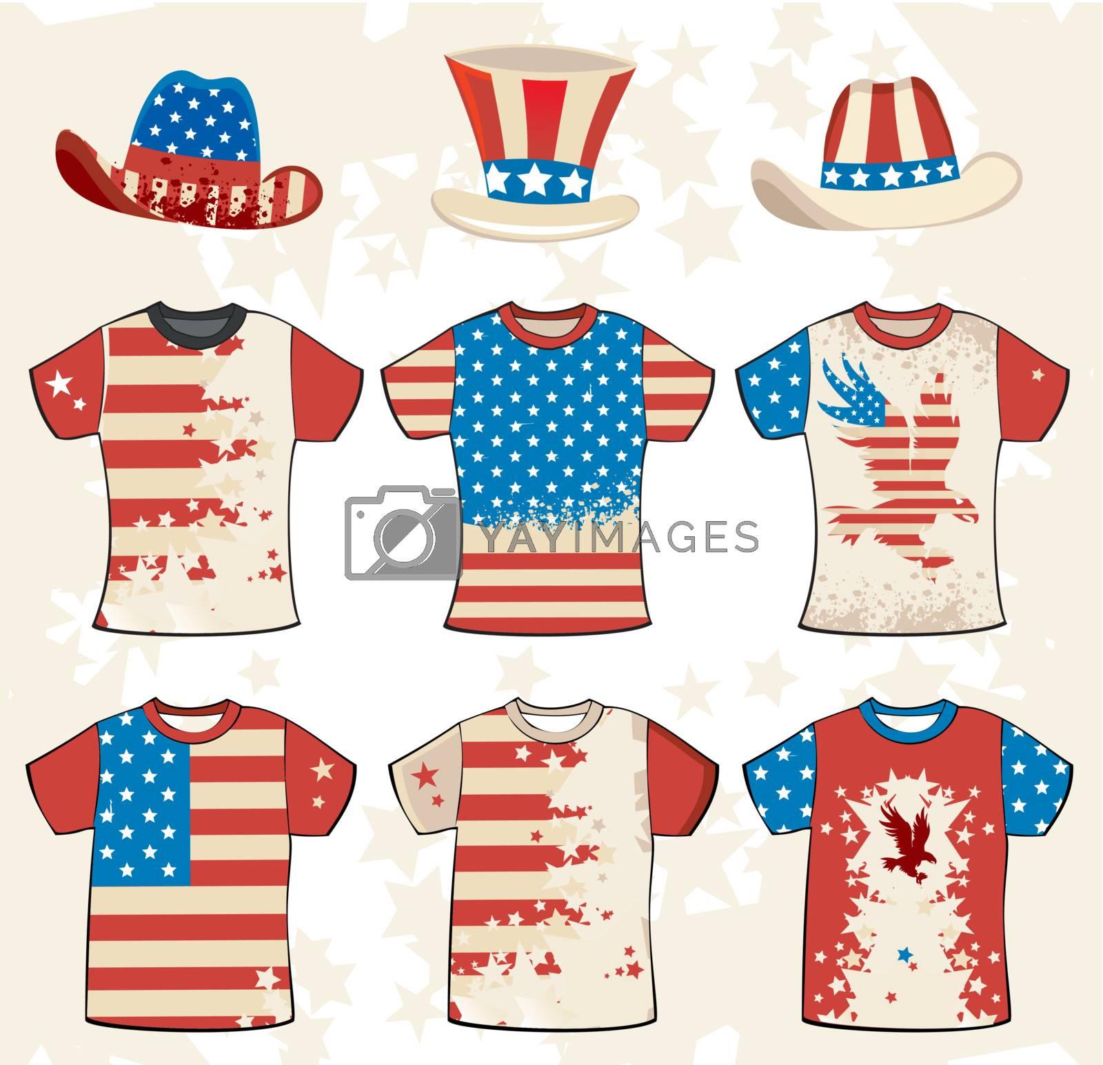 Royalty free image of Grunge american stylish t-shirt design 3 by dianka