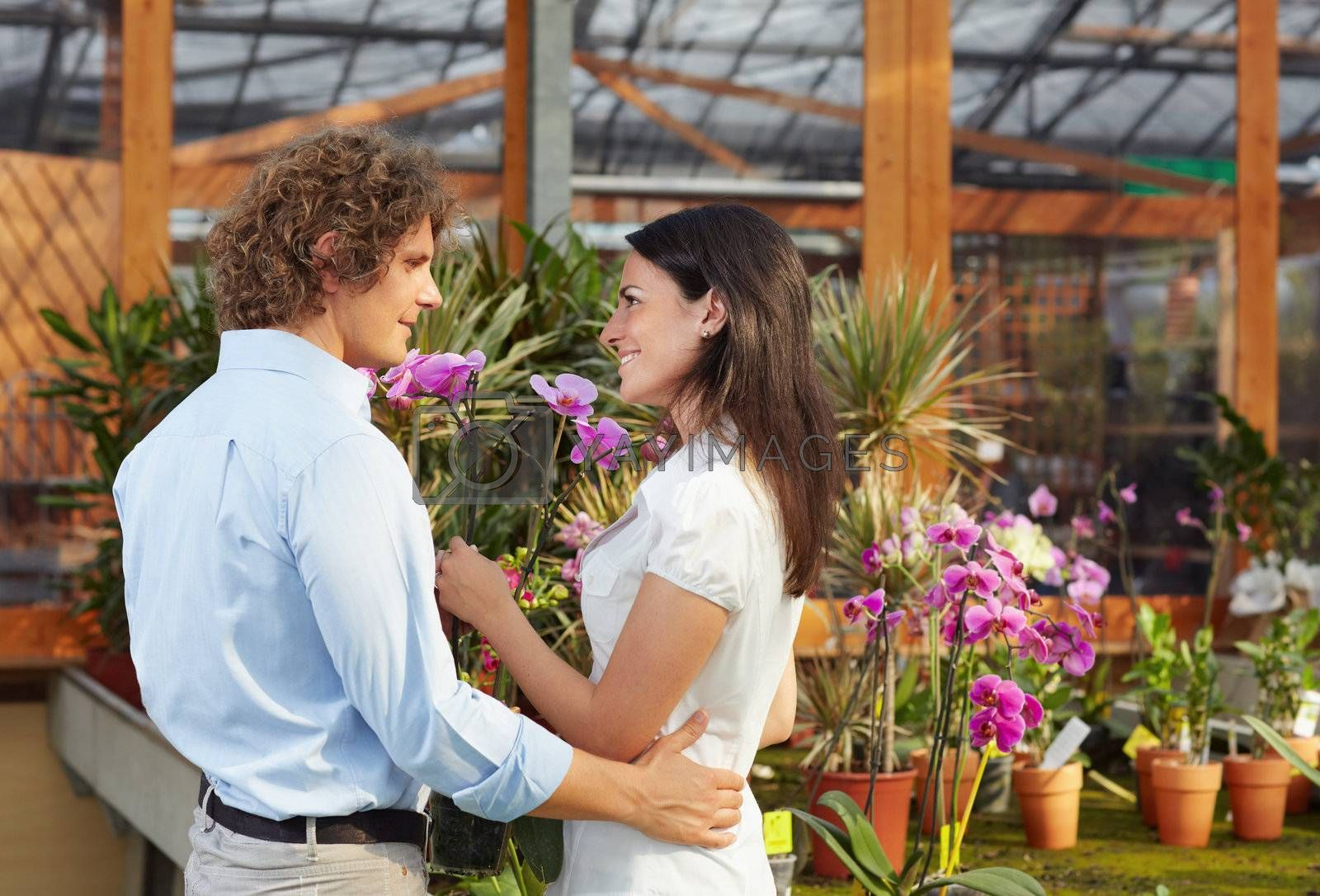 mid adult couple shopping in garden center