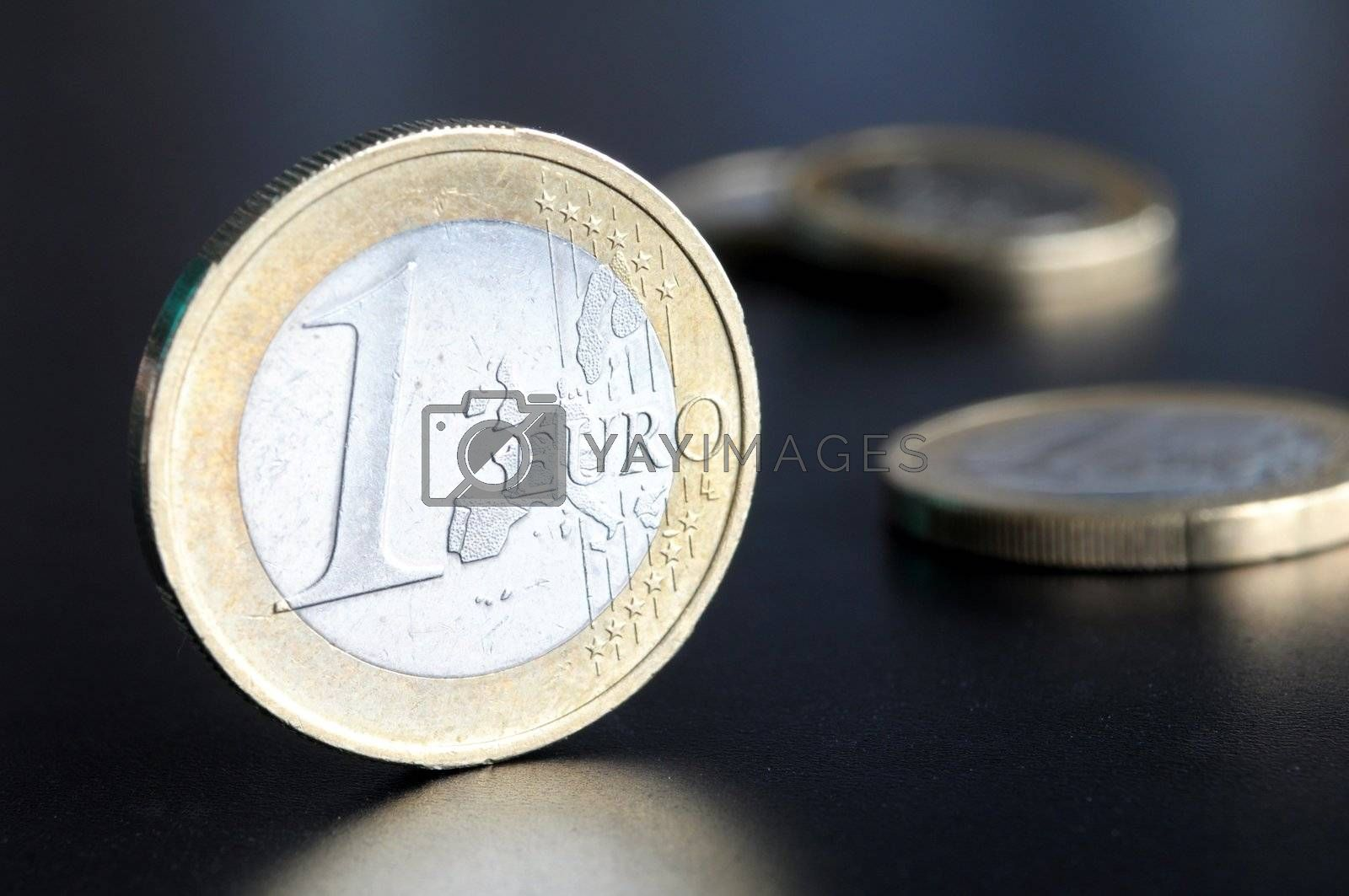 euro coin or money showing financial investment or savings