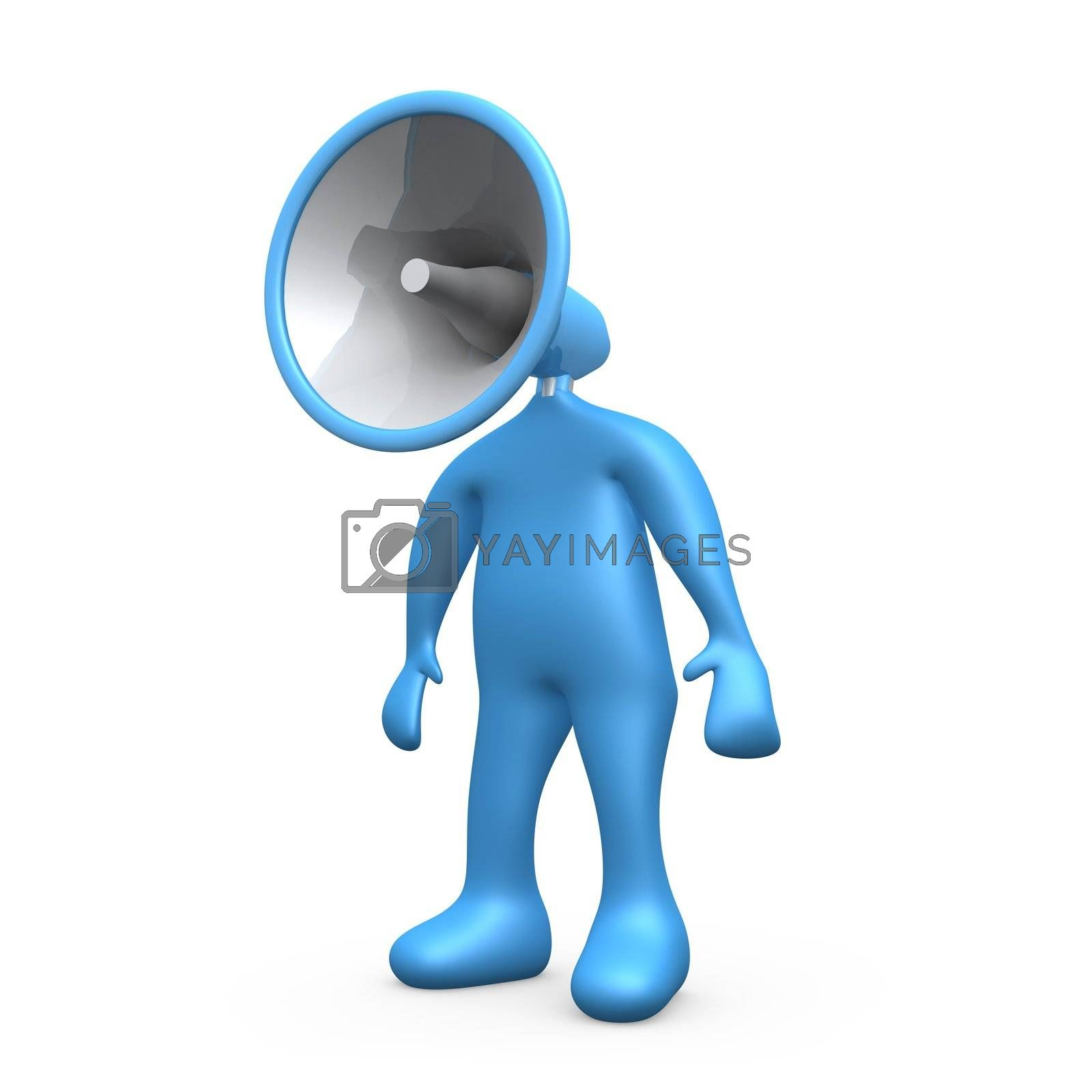 Computer generated image - Megaphone Person .