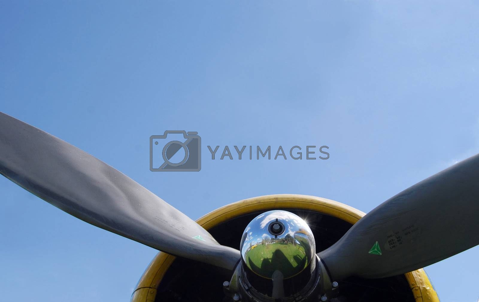 Airplane prop by windmill