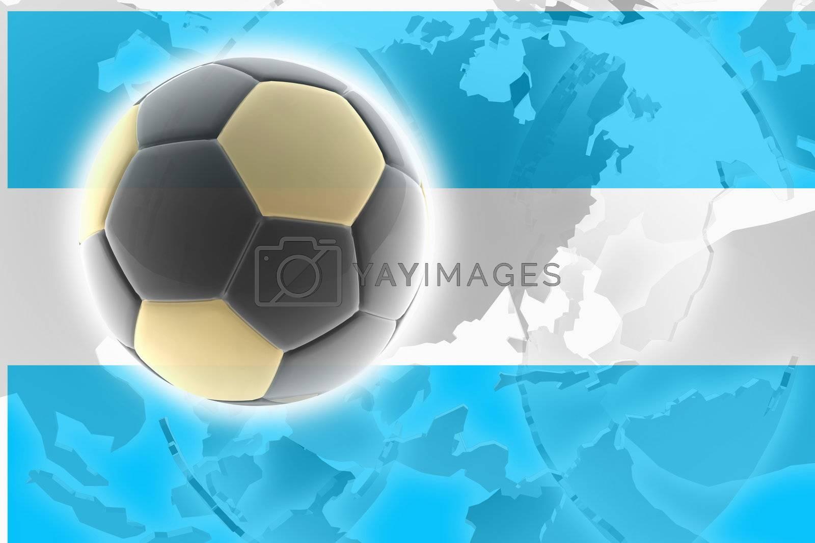 Flag of Argentina, national symbol illustration clipart sports soccer football