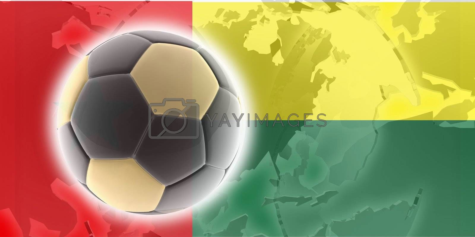Flag of Guinea Bissau, national country symbol illustration sports soccer football
