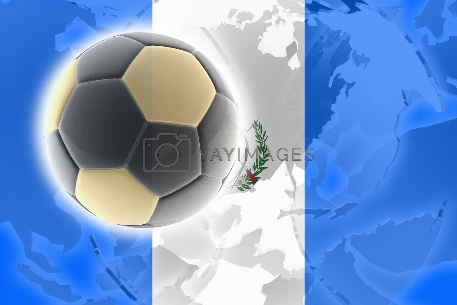 Flag of Guatemala, national country symbol illustration sports soccer football