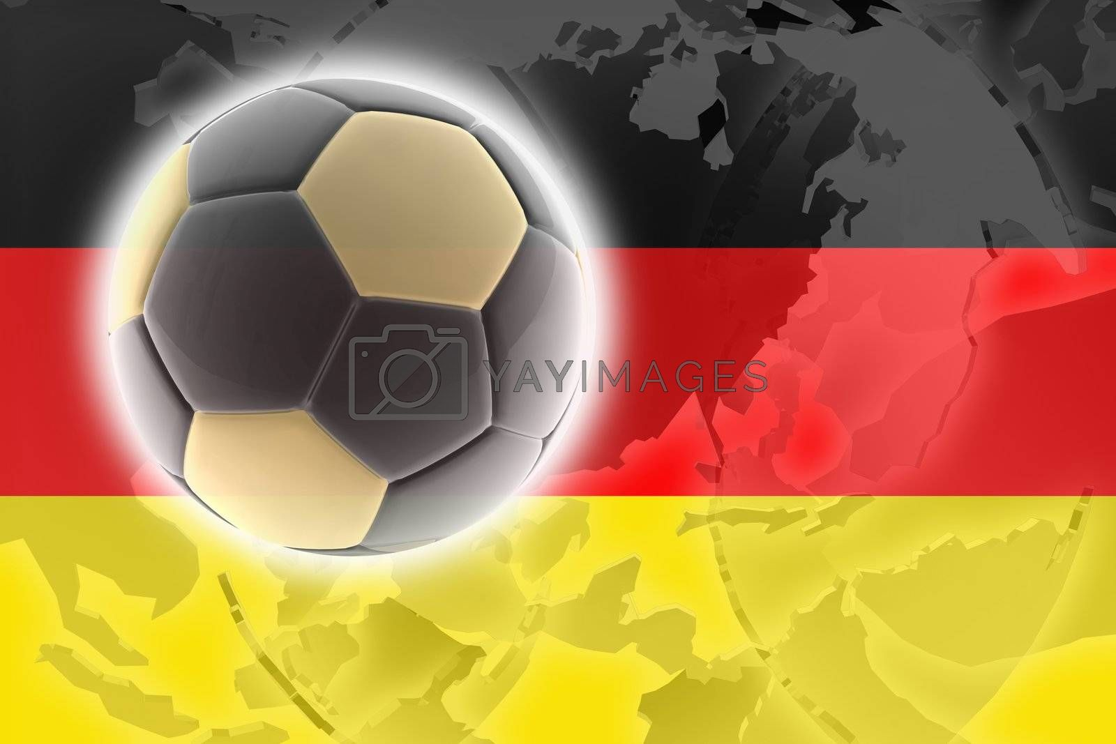 Flag of Germany, national country symbol illustration sports soccer football