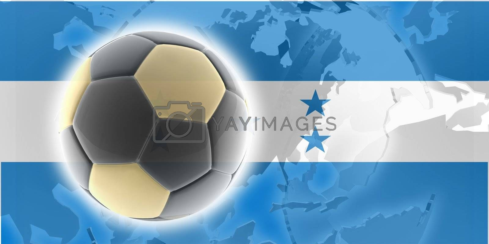 Flag of Honduras, national country symbol illustration sports soccer football