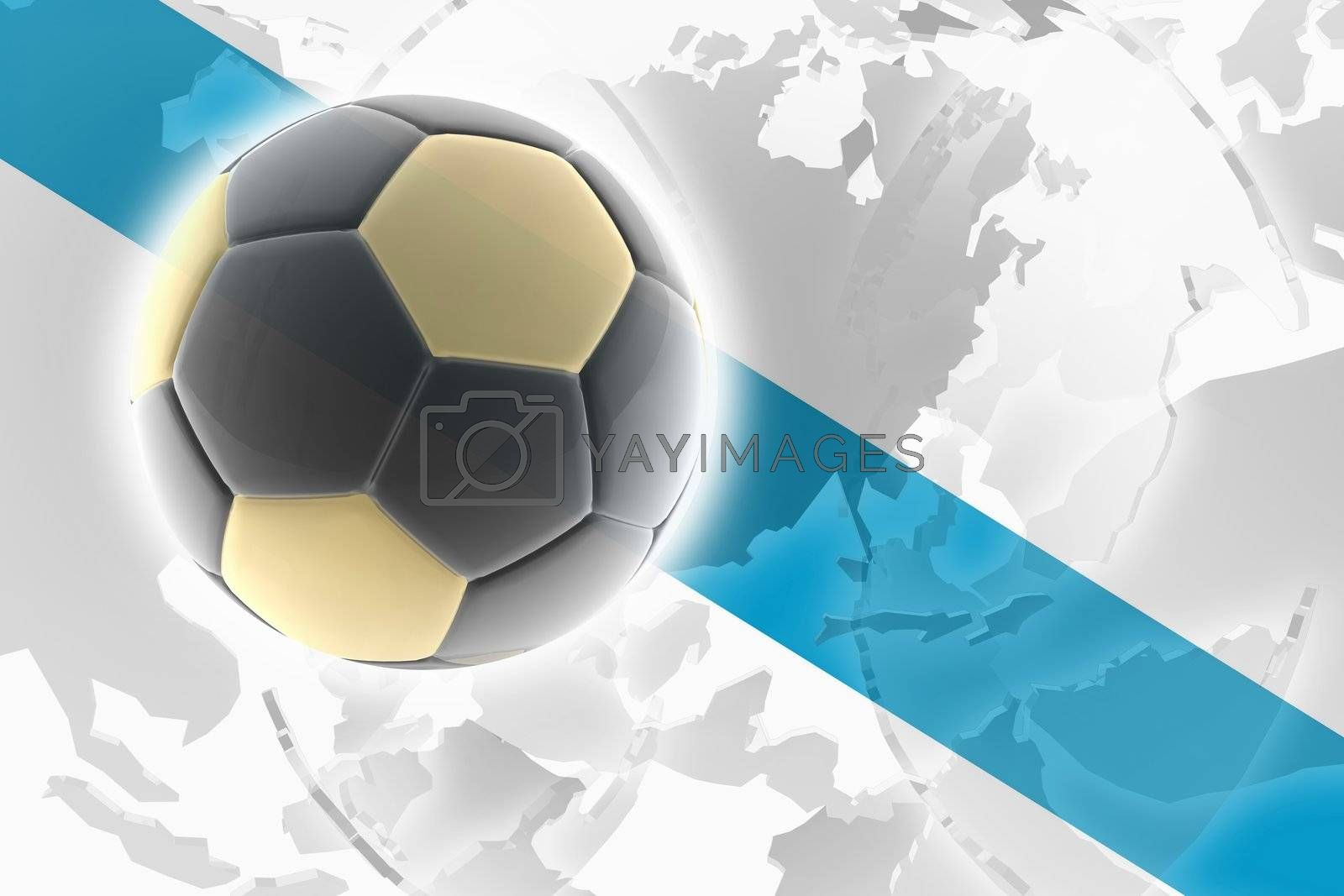 Flag of Galicia Spain, national country symbol illustration sports soccer football