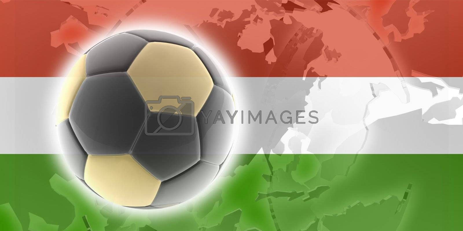 Flag of Hungary, national country symbol illustration sports soccer football