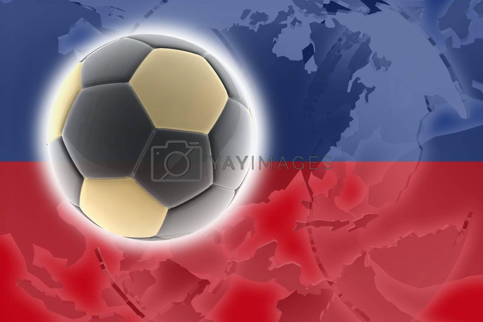 Flag of Haiti, national country symbol illustration sports soccer football