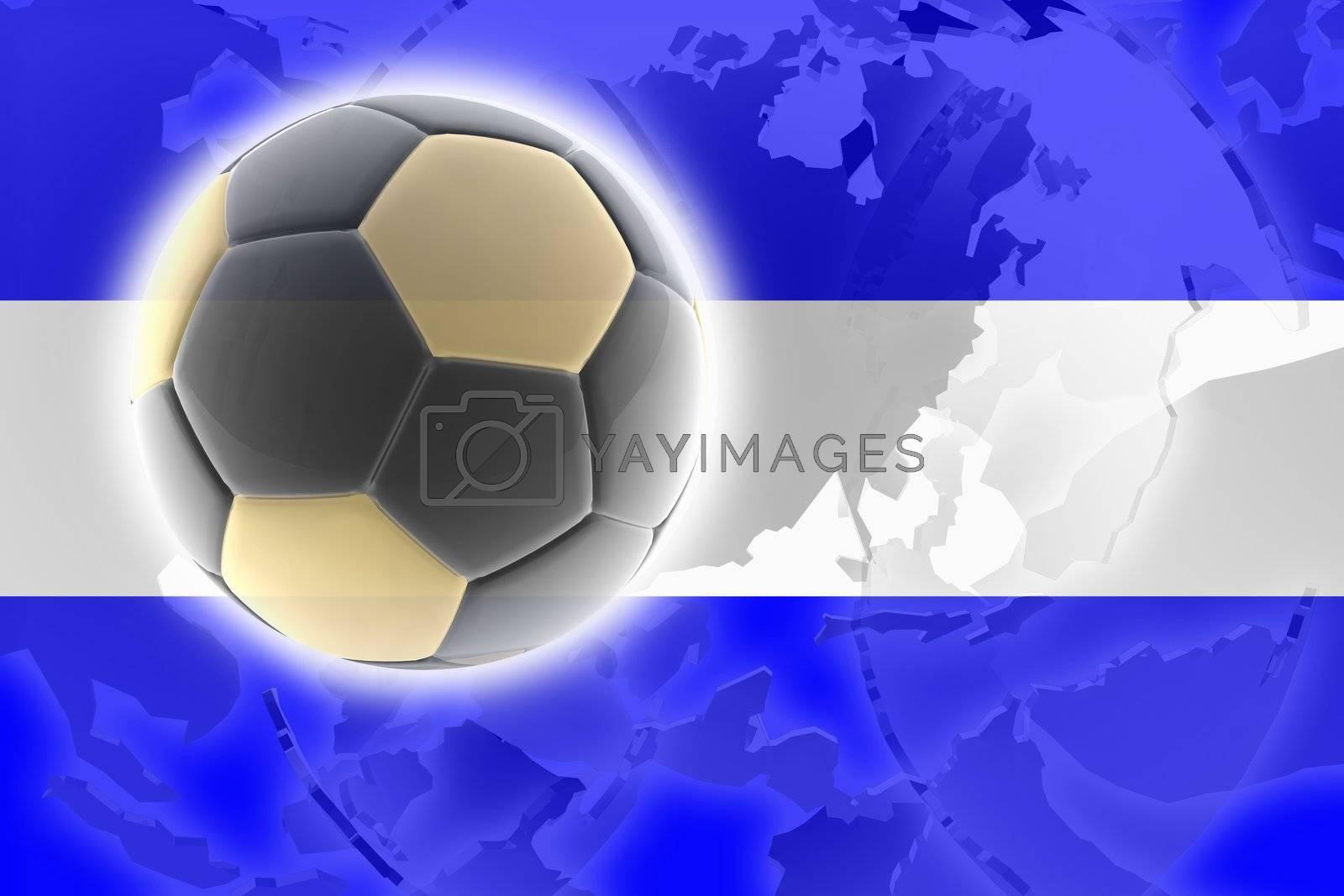 Flag of El Salvador, national country symbol illustration sports soccer football