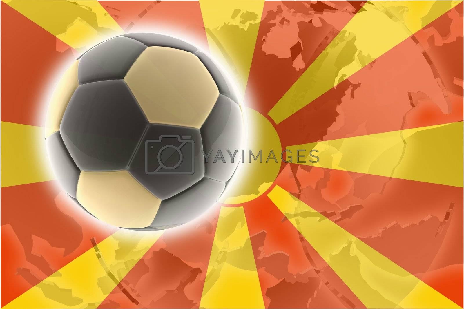 Flag of Macedonia, national country symbol illustration sports soccer football