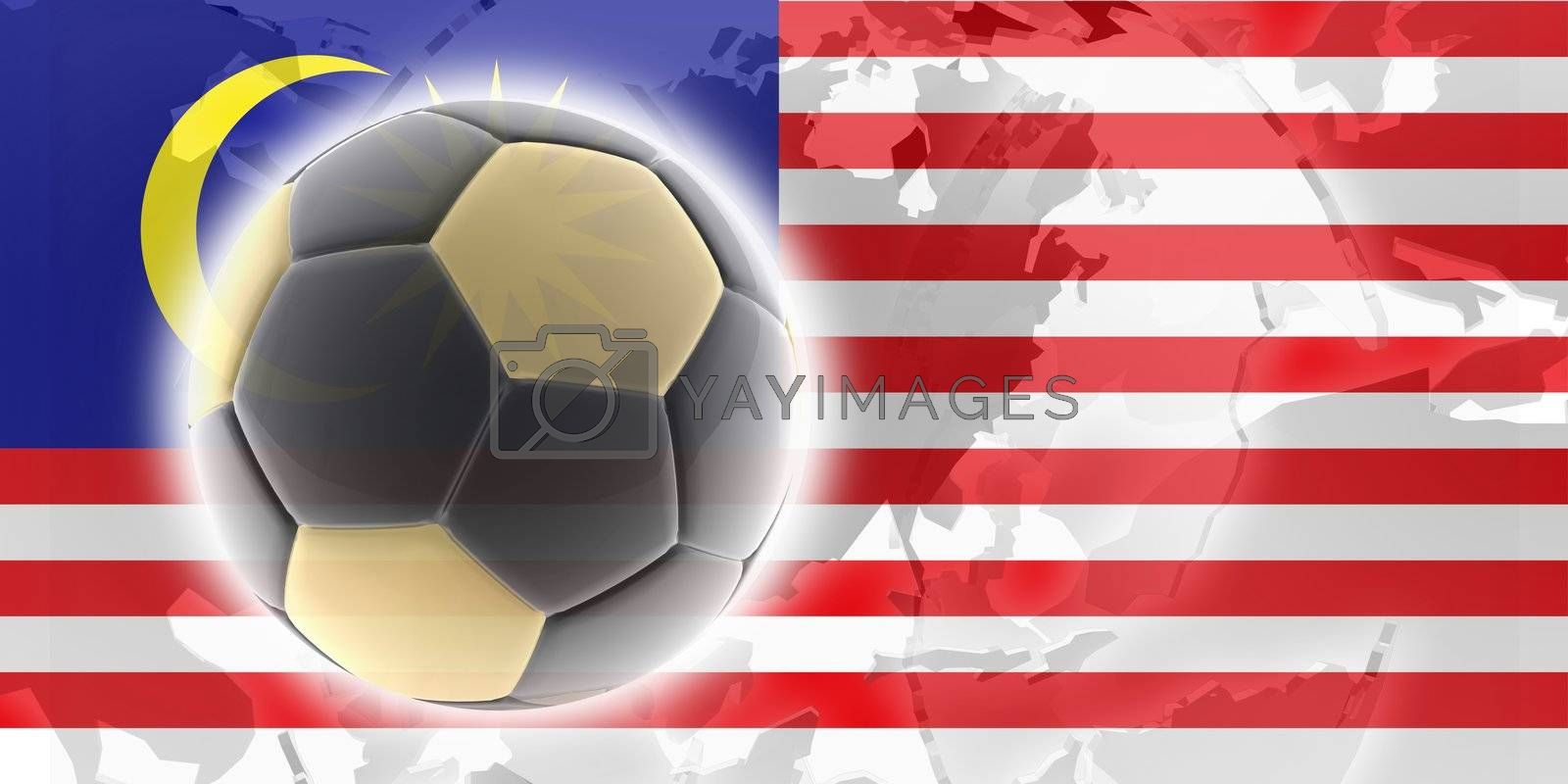 Flag of Malaysia, national country symbol illustration sports soccer football