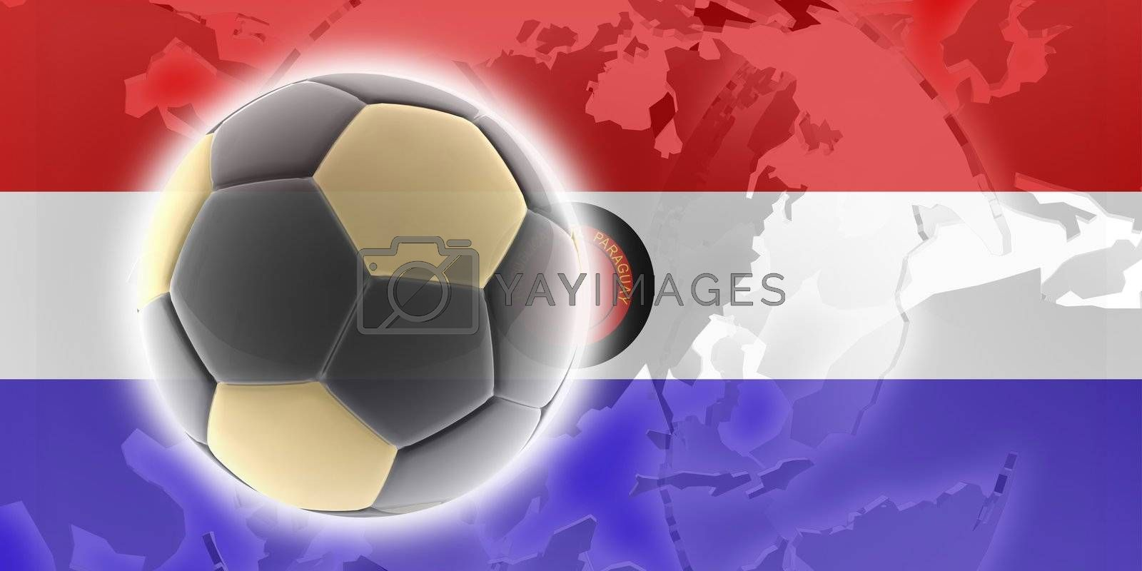 Flag of Paraguay, national country symbol illustration sports soccer football