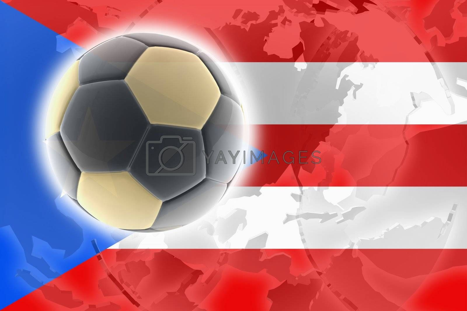 Flag of Puerto Rico, national country symbol illustration sports soccer football
