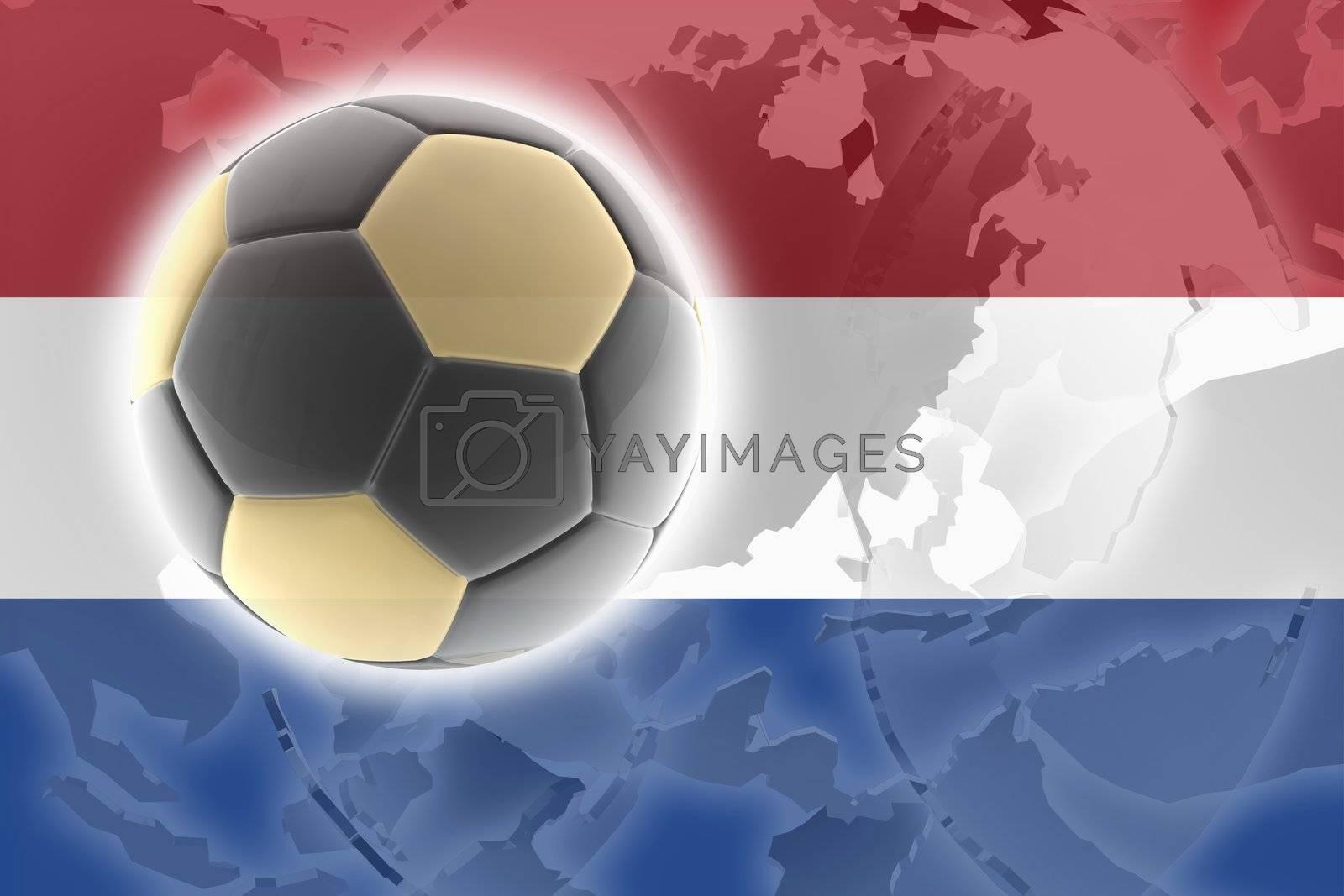 Flag of Netherlands, national country symbol illustration sports soccer football