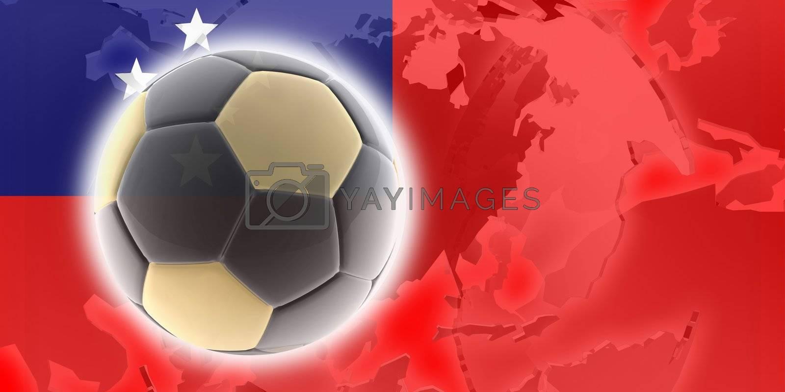 Flag of Samoa, national country symbol illustration sports soccer football