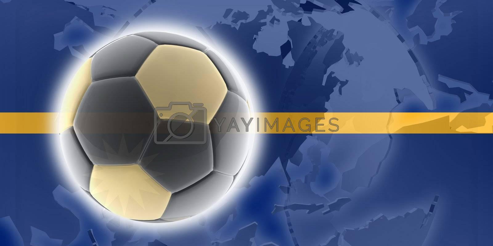Flag of Nauru, national country symbol illustration sports soccer football