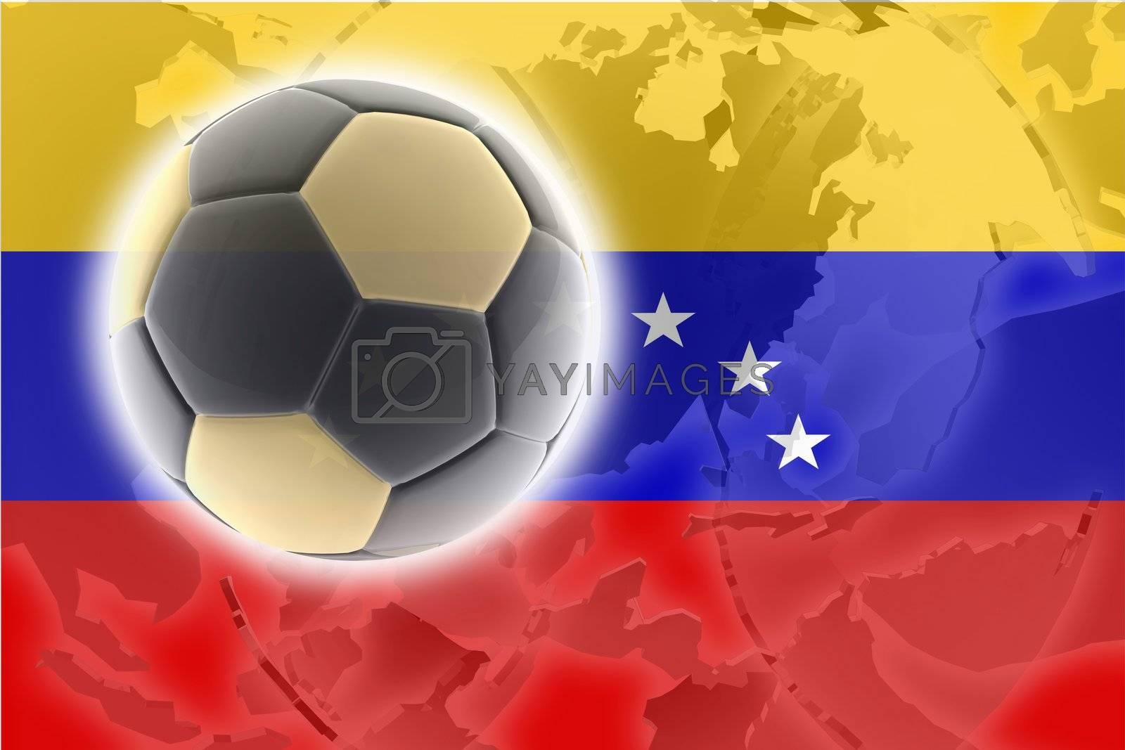 Flag of Venezuela, national country symbol illustration sports soccer football