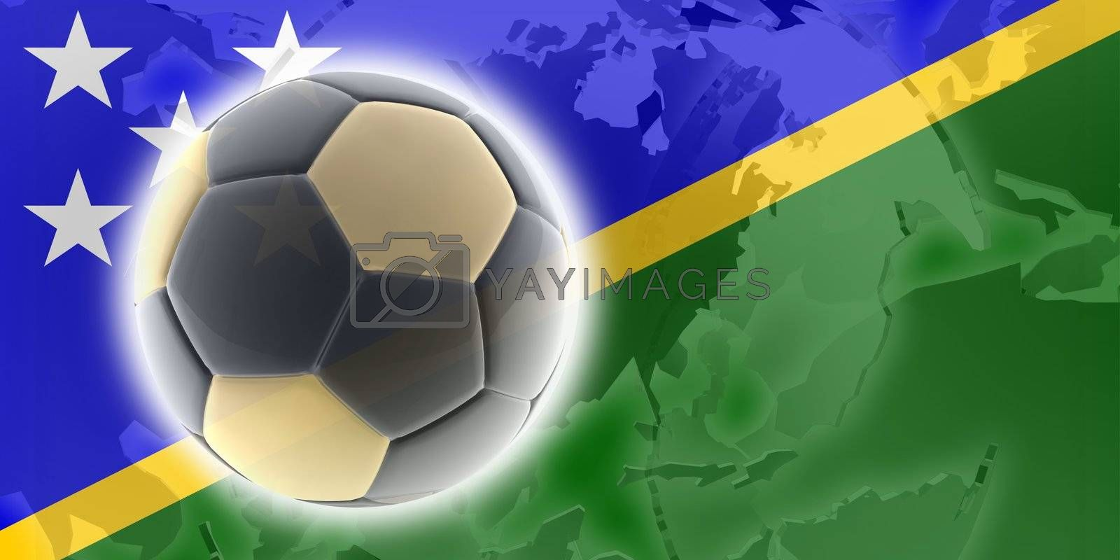 Flag of Solomon Islands, national country symbol illustration sports soccer football